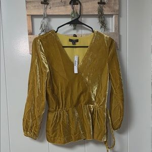 J. CREW velour shirt